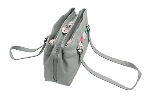 Lucy 734 Pelle Collezione Tripla Grigio Leather 30 Con Zainetto Mala In Zip qz8zg