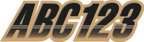 """Stiffie Techtron Black/Tan 3"""" Alpha-Numeric Registration Identification Numbers Stickers Decals for Boats & Personal Watercraft"""