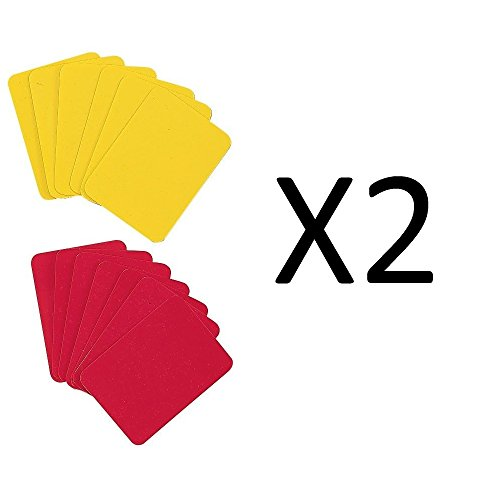 Champion Soccer Referee Red & Yellow Coloured Replacement Cards RWCD (2-Pack) (Champion Football Uniforms)
