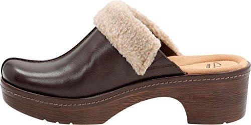 Clarks Women's Preslet Grove Clog Dark Brown Leather 9M5PSPu