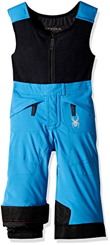 (Spyder Boys' Mini Expedition Ski Pant, French Blue/Black/Black, Size 4)