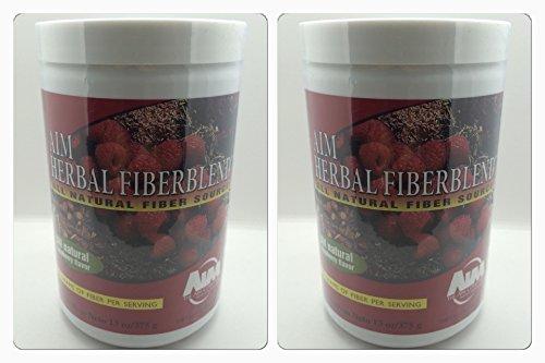 AIM Herbal Fiberblend Raspberry Powder 13 Oz (Two Pack) by AIM International