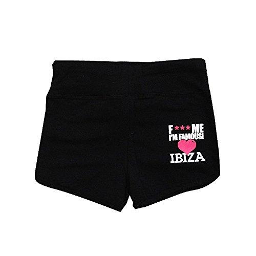 Pantaloncini Me Ibiza Amo Famous I'm F Donna Nero gHx6nz4z