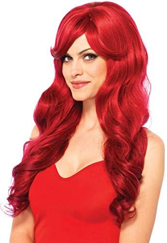 Leg Avenue Women's Long Wavy Wig, Red, One -
