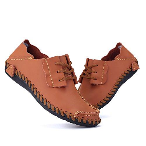 Mocassini Scarpe alto piatto con tacco Orange 40 Uomo Yajie da 2018 Color da Marrone tacco EU e Dimensione shoes uomo wOnqvvXEg8