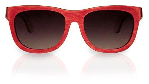 Lunettes rouge skate en de board bois soleil rqwr7YC