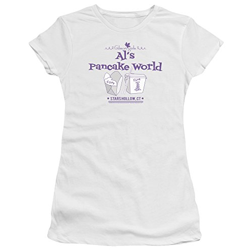 Jeunes T Femmes Bella Pour Premium Gilmore Girls shirt White Pancake World A6qPAwF81x