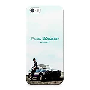 Paul Walker Tribute Car Fast And Furious 7 Hard Plastic Snap-On Case Cover For iPhone 5 and iPhone 5s
