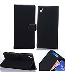 Ezydigital CBCarryberry fashion pu leather wallet credit card flip Case Cover Skin For Sony Xperia Z2