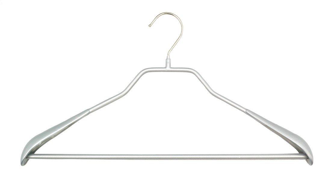 MAWA 0443015052洋服ハンガー、メタル、シルバー、42 x 4.5 cm B01N1F63ZY
