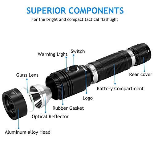 Linternas Tacticas Recargables LED USB Lampara Iluminacion Potente Waterproofing