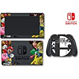 Super Smash Bros Ultimate Color Special Edition Brothers Video Game Vinyl Decal Skin Sticker Cover for Nintendo Switch Console System