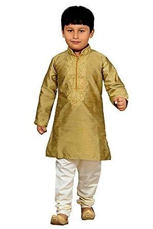 Desi sarees Jungen Indian Sherwani Kurta Kameez mit Pyjama für bollywood-thema Party Outfit Kostüm 905 Jungs Kurta Schlafanzug