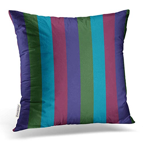 Emvency Throw Pillow Case Dec Christmassy Colorful Christmas Jewel Tone Stripes Decorative Pillow Case Cushion Cover Case Pillowcases Square 18x18 inch