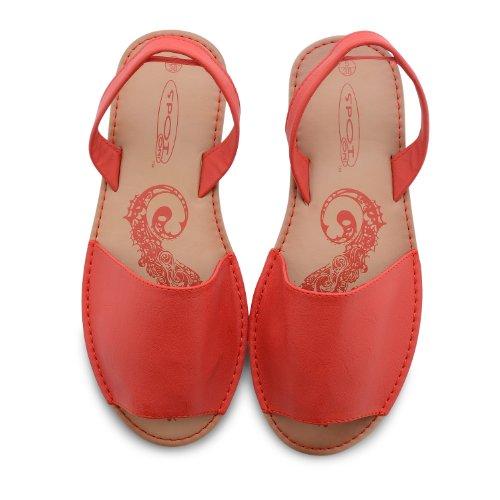 Footwear Sensation - Plano mujer negro - Red Pu