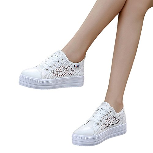 Toile Lacets Talon Sneakers Espadrilles Flâneur Baskets Dentelle Casual Plat Mode Femmes Rond Chaussures À Minetom Lace Loisir Bout Chaussures Uq4AwgC