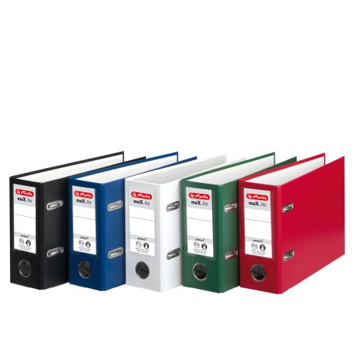 Herlitz max.File Protect A5, 8cm Oblong Lever Arch File - Assorted Colours