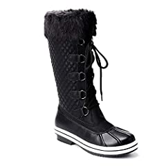 Trary's winter snow boots are a great choice, designed to fit in the cold winter, warm and comfortable. About the these boots:Materials: Upper: Seam-sealed waterproof material upper Lined: Faux fur lining Sole: Non-Slip Rubber SoleTrait:  Wa...