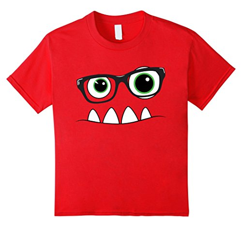 Kids Monster Face Nerd Halloween Costume T Shirt Funny Kids Gifts 4 - Nerd Halloween