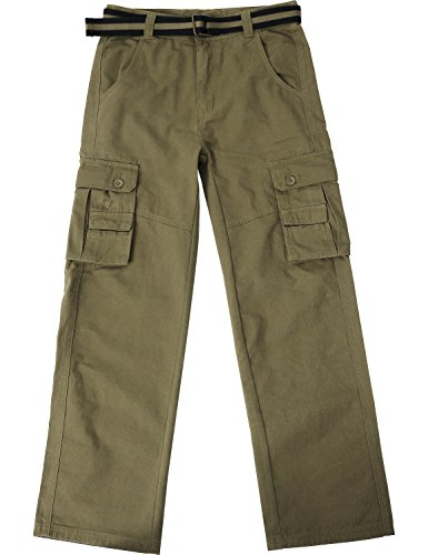 Pants Dress Cargo (Ma Croix JP Mens Cargo Pants with Utility Belt (36/ pj01_Olive))