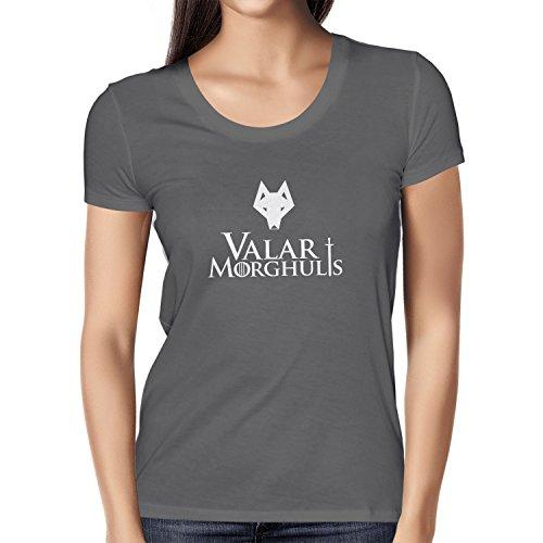 Texlab Got: Valar Morghulis - Damen T-Shirt, Größe M, Grau