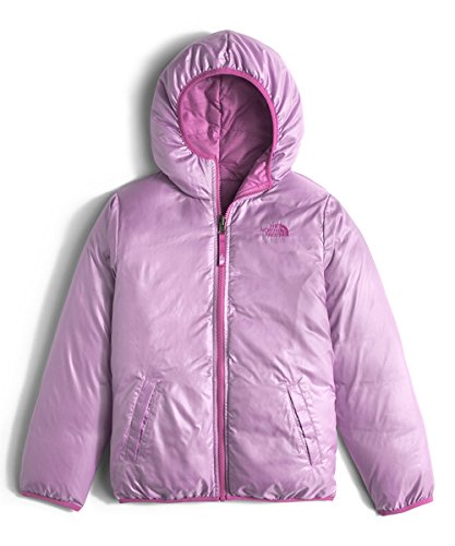 The North Face Kids Girls' Reversible Moondoggy Jacket (Little)2, Wisteria Purple Heather, MD (10-12 Big Kids) by The North Face (Image #5)