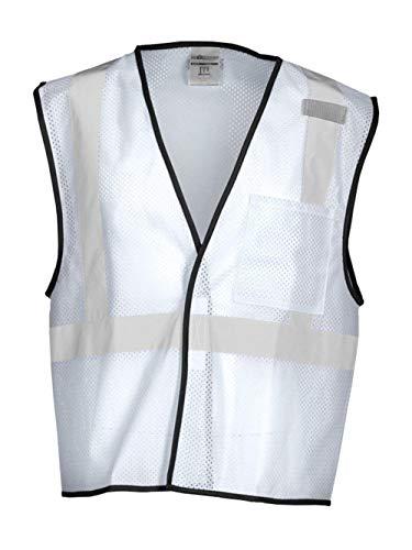 ML KISHIGO Enhanced Visibility White Mesh Vest B124 (L-XL)