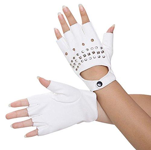 サイクリングパンクストリート手袋の女性と指なしリベット、1ペア