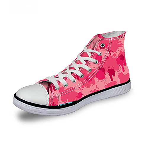 ThiKin スニーカー キャンバス メンズ 帆布 個性的 迷彩 柄 カジュアル 靴 シューズ 3Dプリント 個性的 軽量 通気 おしゃれ ファッション 通勤 通学 プレゼント