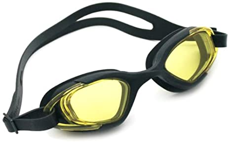 a718cfb786 Image Unavailable. Image not available for. Colour  Viva Sports Viva-130  Swimming Goggles (Black Yellow)