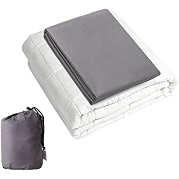 hans alice weighted blanket with duvet cover storage bag queen grey 17 5 lbs. Black Bedroom Furniture Sets. Home Design Ideas