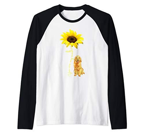 You Are My Sunshine Sunflower Golden Retriever Dog Shirt Raglan Baseball Tee
