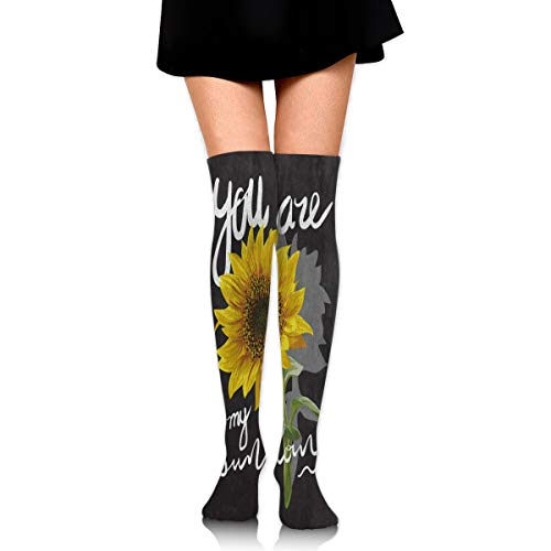 - Women Stockings Over Knee You are My Sunflower Quotes Hot Party