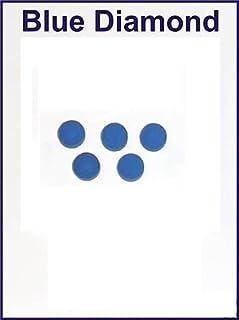 5X 10mm Cuir Diamant Bleu Pointe de billard Pool cue Conseils Blue Diamond