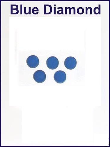 5x 10mm cuero diamante azul billar punta billar consejos Blue Diamond