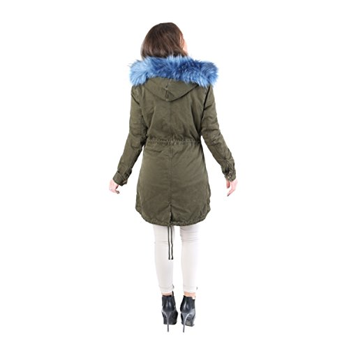 AFF - Parka coat with hood Woman with blue hair - AFD1091