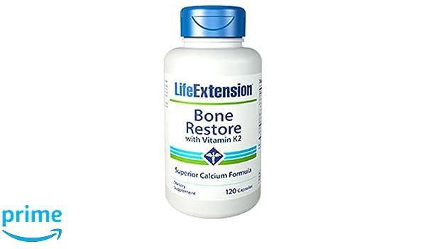 Amazon.com: Bone Restore with Vitamin K2 120 capsules-PACK-3: Health & Personal Care