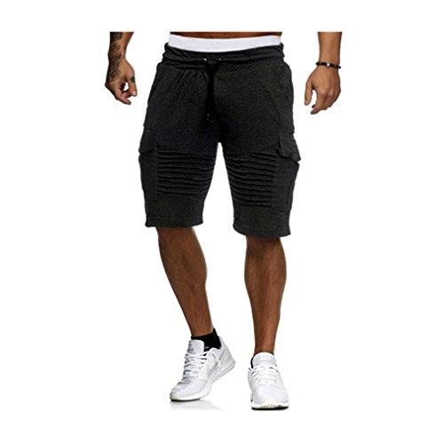 Jogging Pantacourt Été Court Poches M Noir Sport Trous Décontracté Juleya Casual Pantalon 2xl Plier Shorts Bermuda Fitness Homme qSw6UXx50