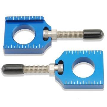Bolt MC Hardware Chain Adjuster Block - Blue CHADYZBL