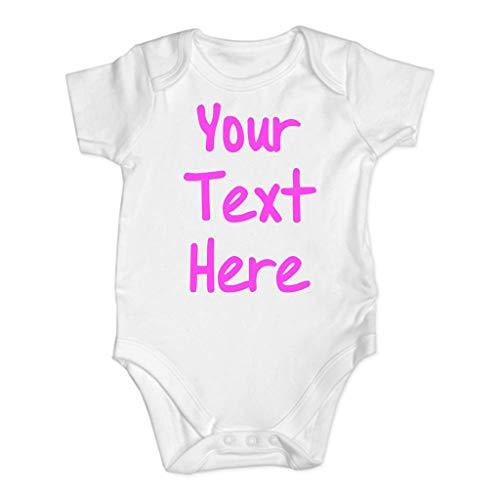 MOGOV Newborn Baby Boy Girls Summer Three Color Letter Printing Infant Rompers Short Sleeve Jumpsuit Clothes Pink