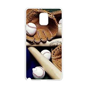 Samsung Galaxy Note 4 Cell Phone Case White Baseball Ball I8255024