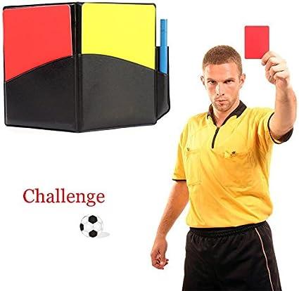 Zhuotop Set d'Arbitrage Football Porte Carton Carte D'arbitre Carton Jaune et Rouge