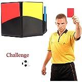 ZHUOTOP Set Arbitrage Football Carnet d'Arbitrage Carton Rouge Carton Jaune
