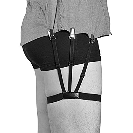 Funnmart Mens Shirt Stays Garters Suspenders Braces for Shirts Gentleman Leg Elastic Men Shirt Suspenders Garter Holder Business