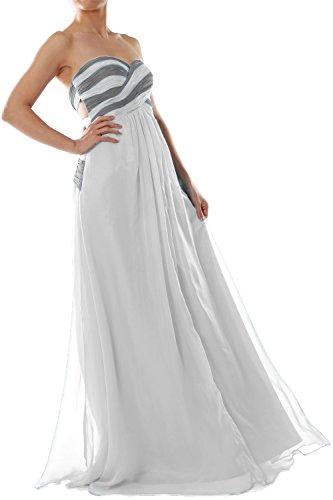 Prom Dress Gown Two Women Formal Strapless Evening MACloth Elfenbein Chiffon Tone Long xa6q4w7A