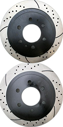 Prime Choice Auto Parts PR64113LR Performance Drilled and Slotted Brake Rotor Pair for Rear (2011 Ford F150 Break Rotors compare prices)