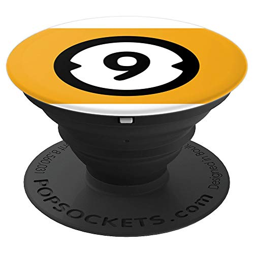 (No. 9 Billiard Ball Pool Halloween Group Costume - PopSockets Grip and Stand for Phones and)