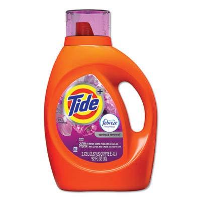 Tide 87566CT Plus Febreze Liquid Laundry Detergent, Spring & Renewal, 92oz Bottle (Case of 4) by Tide