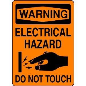 P1486 WARNING ELECTRICAL HAZARD WARNING SAFTEY SIGN POSTER ...