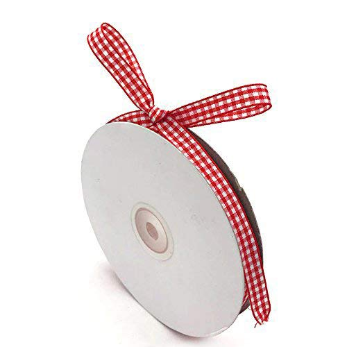 VGoodall Red Gingham Ribbon, 3/8